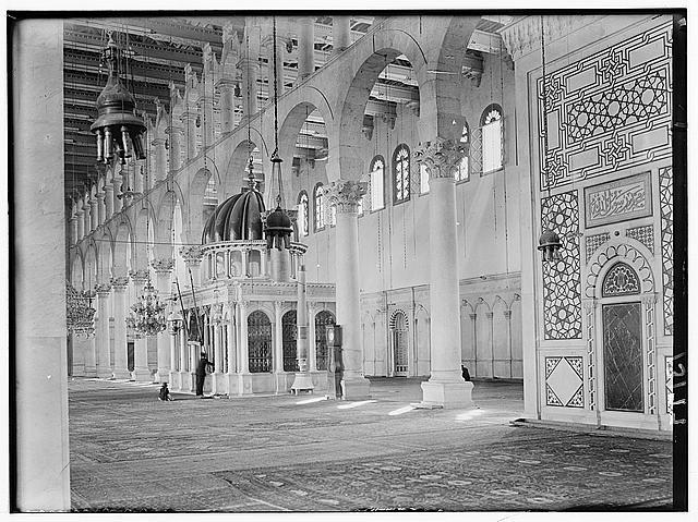شبستان مسجد اموی دمشق و مزار سر حضرت یحیی (ع)