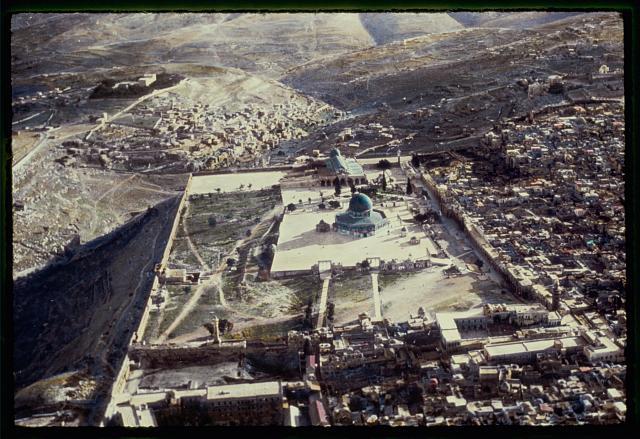 عکس هوایی مسجدالاقصی در بیتالمقدس